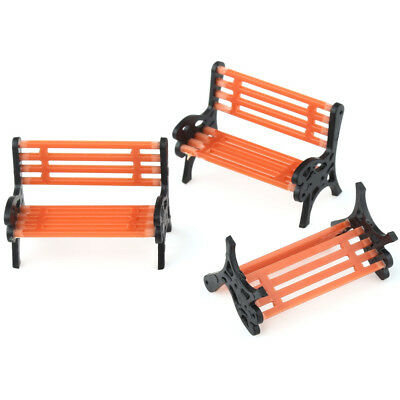 5pcs Bench Model Train Rail Platform Park Street Seats Scenery Layout 1:50