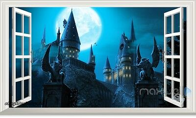 Harry Potter Hogwarts Castle 3D Window Wall Decals Removable Stickers Kids Decor