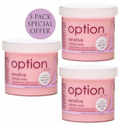 Hive of Beauty depilatory wax 3 for 2 pack offer hair removal - Pink Sensitive