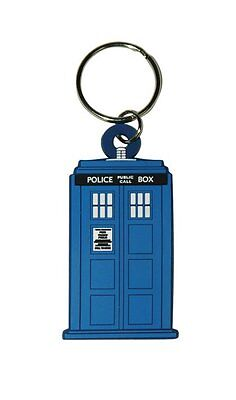 Dr Who - Tardis - Rubber Keychain - Keyring - Doctor Who