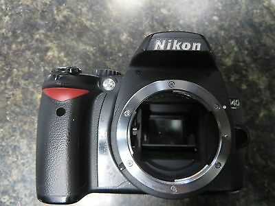 NIKON D40 6.1 DSLR CAMERA (BODY ONLY) WITH STRAP, CHARGER AND CASE