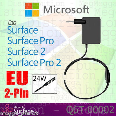 GENUINE Microsoft Surface RT /Pro /2 EU 2pin 24w Power Adapter Charger Q6T-00002