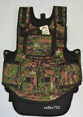 Digital Camo Tactical Vest Paintball Airsoft
