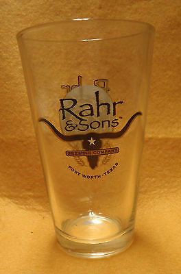 "Rahr & Sons Brewery Ugly Pug American Pint ""Shaker"" Beer Glass Fort Worth Texas"