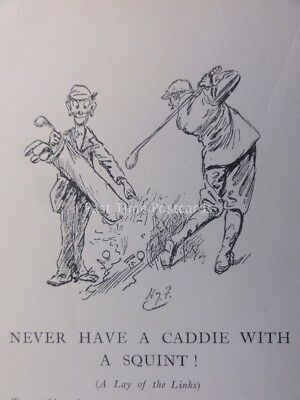 Golf Theme NEVER HAVE A CADDIE WITH A SQUINT ! Antique Punch Cartoon