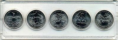 "2011 NATIONAL PARK QUARTER ""ATB"" 5-COIN SET P or D MINT BRILLIANT UNCIRCULATED"