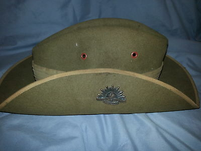 Australian Military Slouch Hat WWI with Rising Sun Badge -RARE-