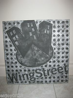 "Pizza Hut Wall Hanging Picture Under the Counter Logo Panel 22"" x 22"""