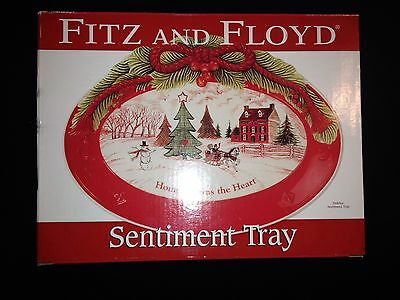 "2010 Fitz And Floyd Sentiment Tray - Christmas 10"" X 7"""