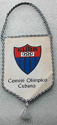 olympic pennant  NOC  CUBA  1970 old  very rare