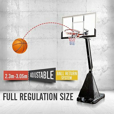 54 inch Adjustable Basketball Ring System Slam Dunk Stand Ring Net (2.3m-3.05m)