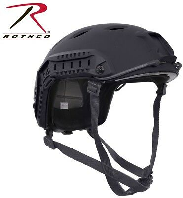 Black Military Style Advanced Tactical Adjustable Airsoft Helmet Rothco 1294