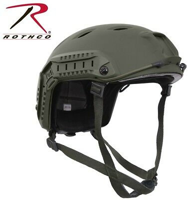 OD Green Military Style Advanced Tactical Adjustable Airsoft Helmet Rothco 1294