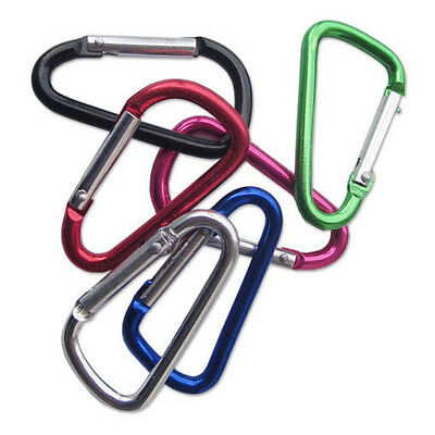 4PC Aluminum Alloy Outdoor Travel Hike Bicycling Camp Carabiners Hook Clips Snap