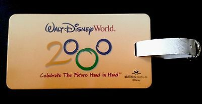 "Walt Disney World 2000 ""Celebrate The Future Hand In Hand"" Luggage Bag Tag"
