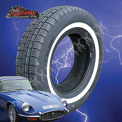"""14"""" Whitewall 205 75 14 Suretrac Tyres.  28Mm White Line 205/75R14 White Wall 14"""