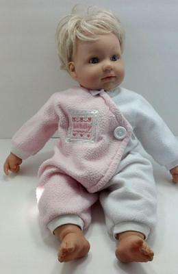 """Berenguer Life Like Baby Doll w/ La Baby Outfit Vinyl & Cloth 20"""""""