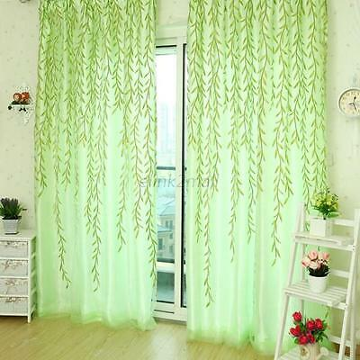 Chic Room Willow Pattern Voile Window Curtain Sheer Panel Drapes Scarfs Curtain