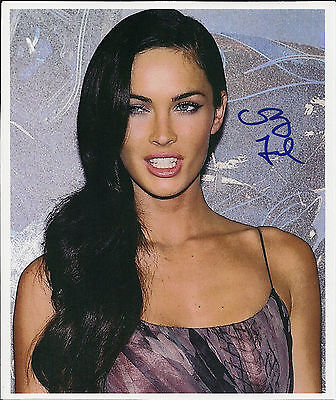GENUINE HAND AUTOGRAPHED PHOTO Megan Fox sexy smile with COA FREE SHIPPING