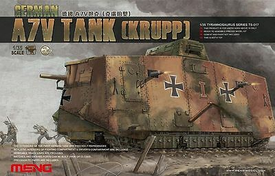 Meng Model 1/35 TS-017 German A7V Tank (Krupp)