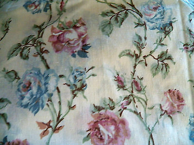 Vintage Twin Bed 3 Pc.SheetSet-CANNON-Shabby/Cottage Chic floral-great cond