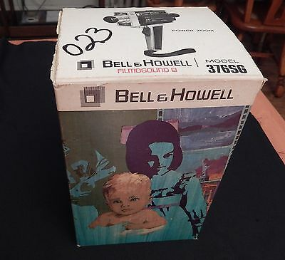 Bell & Howell FILMOSOUND 8 Model 376SG Movie Camera from Original Owner