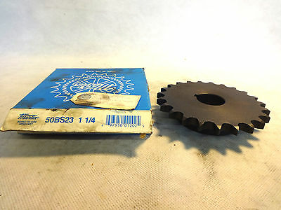 New In Box Martin 50Bs23 1-1/4 Bored To Size Sprocket