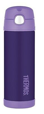 Thermos Stainless Steel Kids Insulated 16oz Funtainer Straw Bottle - Purple