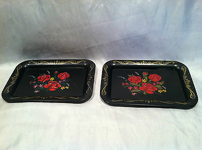 VTG Compliments of Pepsi-Cola Tin Tip Tray Tole Painting Style Rose Decals 6 x 4