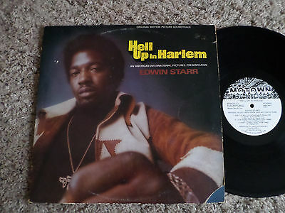EDWIN STARR Hell Up In Harlem Soundtrack Promo 1974 MOTOWN  LP