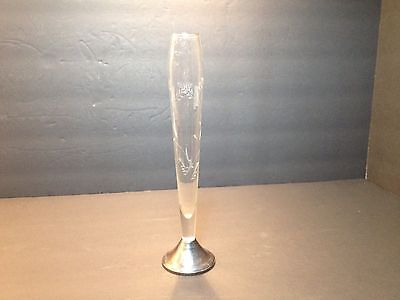 Sterling and Crystal Etched Bud Vase