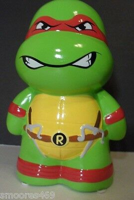 Teenage Mutant Ninja Turtles Raphael TMNT Ceramic Decorative Coin Bank Brand New