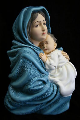 Virgin Mary Madonna of the Street with Jesus Plate Italian Catholic Statue Italy