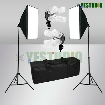 Photo Studio Softbox Continuous Lighting Video 4 Head Soft Box Light Stand Kit