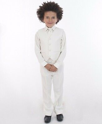 Boys Suits All Cream 4 Piece Suit Christening Wedding Page Boy Baby Formal Smart