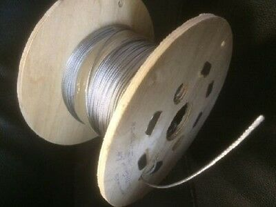 Wire Rope Galvanised Steel Metal cable 1.5mm 2mm 3mm 1 2 3 5 10 25 50 metre