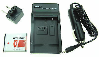 Battery +Charger for SONY Cyber-shot DSC-HX5V DSC-HX7V DSC-HX9V Digital Camera
