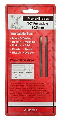 Tct Reversible Planer Blades 80 Mm K20 Carbide
