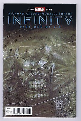 Infinity #1 Store Party Variant VF/NM Signed Jim Cheung w/COA 2013 Marvel Comics