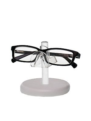 Clear Acrylic SUNGLASSES EYEGLASSES display STAND with White Base Glasses Nose