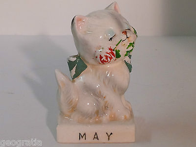 Vintage Japan May Mother's  Day Cat Monthly Figurine