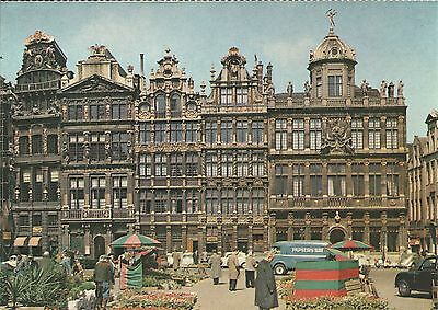 VINTAGE OLD POSTCARD PACK 4 CARDS BRUSSELS ATOMIUM BROUCKERE SQUARE MARKETPLACE