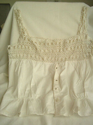 Victorian Style Chemise with Tatted Lace