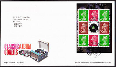 GB Classic Album Covers pane 2010 FDC Tallents House Postmark