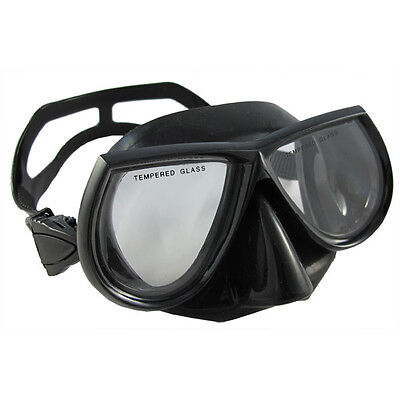 Scuba Choice Diving Spearfishing Free Dive Low Volume Black Silicone Mask
