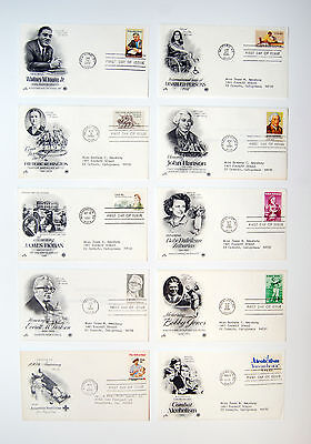 Mixed Lot of 10 1981 U.S. First Day Covers