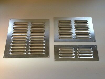 Aluminium Silver Air Vent Louvred Grill Cover Ventilation Grille 9x3 9x6 9x9