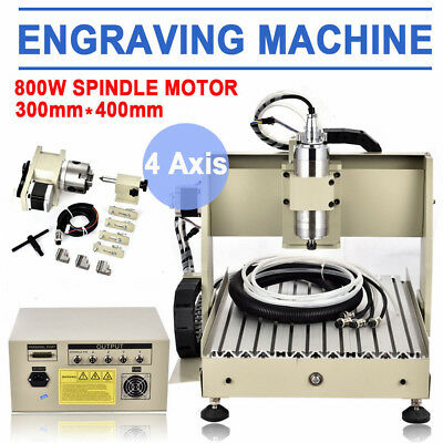 CNC Router 4 Axis Engraving 3040 Cutting and milling  machine  From Germany