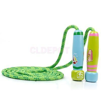 Wooden Handle Adjustable Skipping Rope Speed Jump Kid Child Outdoor Game Toy