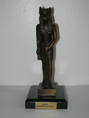 Anubis Real Vintage Bronze Statue Sculpture Figurine God Of Dead Egyptian Deity